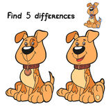 Find differences (dog). Game for children: Find 5 differences (dog Royalty Free Stock Photos