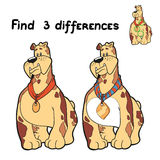 Find differences (dog). Game for children: Find 3 differences (dog Royalty Free Stock Photos