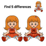 Find 5 differences (doll) Stock Images