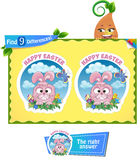 Find 9 differences Easter game Royalty Free Stock Photography