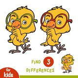 Find differences, education game, Chicken. Find differences, education game for children, Chicken Royalty Free Stock Photography