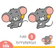 Find differences, education game, Mouse. Find differences, education game for children, Mouse Stock Images