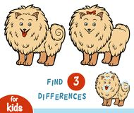 Find differences, education game, Pomeranian. Find differences education game for children, Pomeranian Royalty Free Stock Image