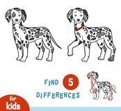 Find differences, education game, Dalmatian. Find differences, education game for children, Dalmatian Royalty Free Stock Image