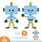 Find differences, education game, Robot. Find differences, education game for children, Robot stock illustration