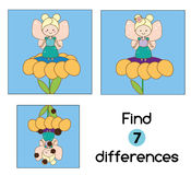 Find the differences educational children game. Kids activity sheet. Find the differences educational children game with answer. Kids activity sheet. Vector Stock Photo