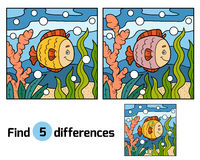 Find differences (fish and background) Royalty Free Stock Image