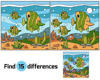 Find differences (fish). Game for children: Find differences (fish family royalty free illustration