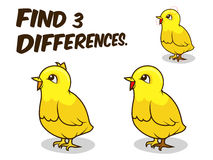 Find differences game chicken vector illustration. Find differences game chicken cartoon colorful vector illustration Royalty Free Stock Images