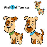 Find differences, game for children (dog). Find differences, education game for children (dog Stock Images
