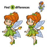 Find differences, game for children: little fairy Royalty Free Stock Photography