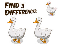 Find differences game goose vector illustration Stock Photography