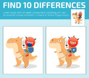 Find differences,Game for kids ,find differences,Brain games, children game, Educational Game for Preschool Children, Vector Illus. Tration, Knight sitting on a Royalty Free Stock Photo