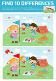 Find differences,Game for kids ,find differences,Brain games, children game,. Educational Game for Preschool Children, Vector Illustration, kids summer camp Royalty Free Stock Photography