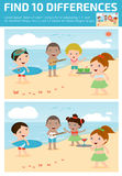 Find differences,Game for kids ,find differences,Brain games, children game, Stock Photography