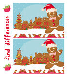 Find differences -  Gingerbread santa. Illustration Stock Photos