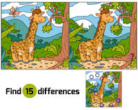 Find differences (giraffe). Game for children: Find differences (giraffe Stock Images