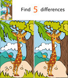 Find differences giraffe. Vector illustration background Royalty Free Stock Photography