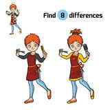 Find differences, Hairdresser. Find differences, education game for children, Hairdresser Royalty Free Stock Images
