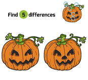 Find differences: Halloween pumpkin Stock Images