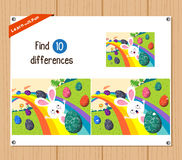 Find differences (Happy easter) Stock Photography