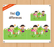 Find differences (Happy easter) Royalty Free Stock Image