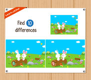 Find differences (Happy easter) Royalty Free Stock Photo