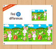 Find differences (Happy easter) Stock Photos