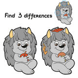 Find 3 differences (hedgehog). Game for children: Find 3 differences (hedgehog Royalty Free Stock Photo