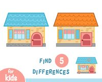 Find differences, House. Find differences, education game for children, House Royalty Free Stock Photo