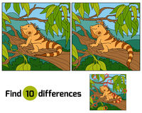 Find differences (iguana). Find differences for children (iguana Stock Image