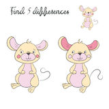 Find differences kids layout for game mouse. Doodle cartoon hand drawn vector illustration Royalty Free Stock Photo