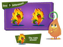 Find 3 differences ladybird. Visual Game for children. Task: find 3 differences Royalty Free Stock Photo