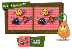 Find 9 differences ladybird. Visual Game for children. Task: find 9 differences Royalty Free Stock Photo