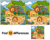 Find differences (lions). Game for children: Find differences (lions Royalty Free Stock Images