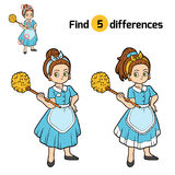 Find differences, Maid. Find differences, education game for children, Maid Stock Photo