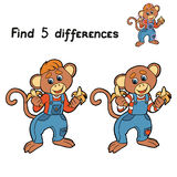 Find 5 differences (monkey) Stock Photo