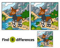 Find differences, Okapi. Find differences education game for children, Okapi Royalty Free Stock Photos