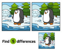 Find differences (penguin and background) Royalty Free Stock Images