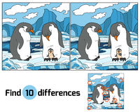 Find differences (penguin) Royalty Free Stock Photos