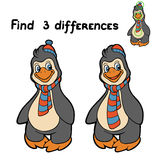 Find differences (penguin) Royalty Free Stock Image