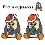 Find differences (penguin) Royalty Free Stock Photography