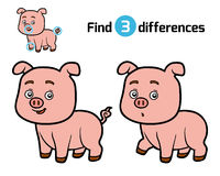 Find differences, Pig Royalty Free Stock Images