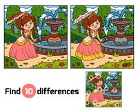 Find differences, Princess. Find differences education game for children, Princess Stock Image