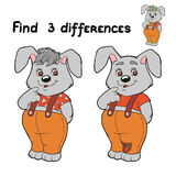 Find differences (rabbit) Royalty Free Stock Photo