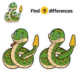 Find differences, Rattle snake Royalty Free Stock Images