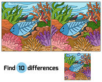 Find differences (x-ray fish). Find differences for children (x-ray fish Royalty Free Stock Images