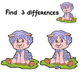 Find differences (sheep). Game for children: Find 3 differences (sheep Royalty Free Stock Image