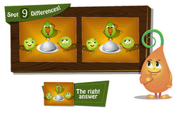 Find 9 differences. Visual Game for children. Task: find 9 differences Royalty Free Stock Images