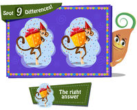 Find 9 differences. Visual Game for children. Task: find 9 differences Royalty Free Stock Photo